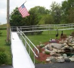 Commercial Ramps - Aluminum Ramp with American Flag