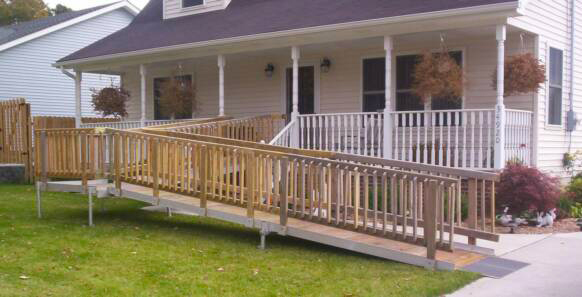Wooden Ramps   Exterior Ramp Wooden Ramps   Residential Ramp ...
