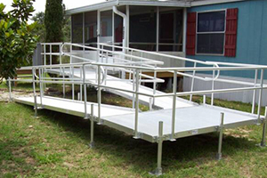 Richmond ramps installation service for Handicap accessible mobile homes for sale
